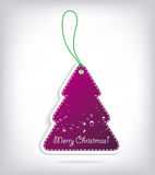 Christmas tree shaped invitations. With bow Royalty Free Stock Image
