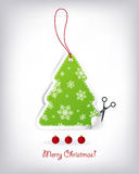 Christmas tree shaped invitations Stock Images