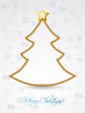 Christmas tree shaped rope. On greeting card Stock Image