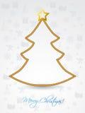 Christmas tree shaped rope Stock Image