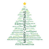 Christmas tree shaped from type Royalty Free Stock Photo
