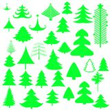 Christmas tree shapes elements. Different shapes of christmas trees with eps files Stock Images