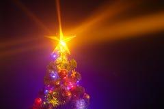Christmas tree with shining star Royalty Free Stock Photos