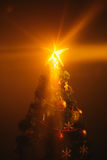 Christmas tree with shining star Royalty Free Stock Photos
