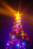 Christmas tree with shining star Royalty Free Stock Photography
