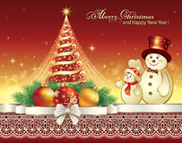 Christmas tree with shining star Stock Photos