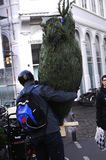 CHRISTMAS TREE SHOPPERS Stock Images