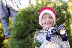 Christmas tree shopping Royalty Free Stock Image