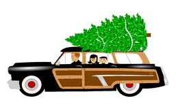 Christmas tree shopping Royalty Free Stock Photo