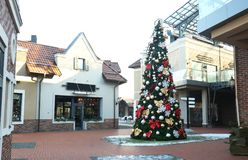 Christmas tree in mall. Christmas tree in shopping mall Royalty Free Stock Photo