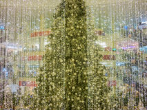 Christmas Tree at Shopping Mall Stock Photos