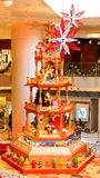 Christmas tree at shopping mall Stock Image