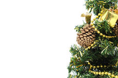 Christmas tree side-ornament Stock Images