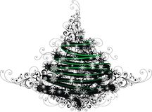Christmas tree sign Stock Images