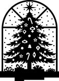Christmas Tree Silhouette/eps