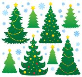 Christmas tree silhouette theme 9. Eps10 vector illustration Royalty Free Stock Images