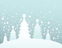 Christmas tree silhouette topic 3 Royalty Free Stock Photo