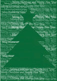Christmas tree silhouette of words vector illustration