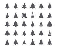 Christmas tree silhouettes Stock Photography