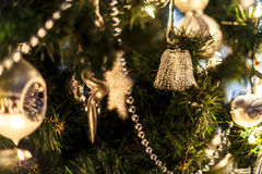 Christmas tree. With silver decoration Stock Photography
