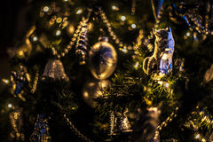 Christmas tree. With silver decoration Royalty Free Stock Images