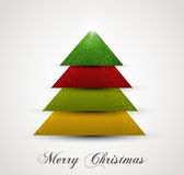 Christmas tree simple colorful  Royalty Free Stock Photos