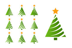 Christmas tree simple set Royalty Free Stock Photography