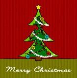 Christmas tree sketch Royalty Free Stock Image