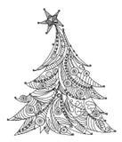 Christmas tree, sketch, Kid's dreams Royalty Free Stock Image