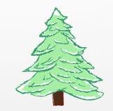 Christmas tree sketch Royalty Free Stock Photos