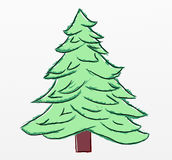 Christmas tree sketch Royalty Free Stock Photos