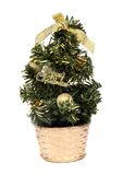 Christmas tree. Small Christmas tree isolated on a white background Royalty Free Stock Photography