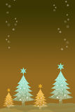 Christmas tree and snow Royalty Free Stock Photos