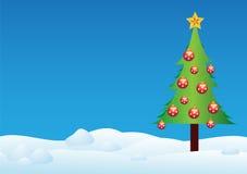 Christmas tree in snow Royalty Free Stock Photo