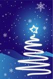 Christmas tree and snow Stock Photography