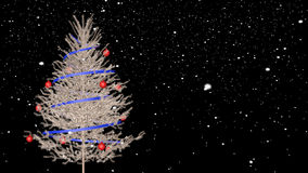 Christmas tree and snow. With alpha channel (Cinema 4d stock footage