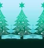 Christmas tree with snow background Stock Photo