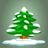 Christmas tree and snow Royalty Free Stock Images