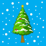Christmas tree with snow backgrounds for Christmass Day.  Royalty Free Stock Photography