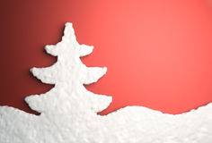 Christmas tree from snow Royalty Free Stock Photography