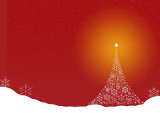 CHRISTMAS TREE snow  crystal snow Stock Photo