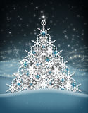 Christmas tree snow flakes. stock image
