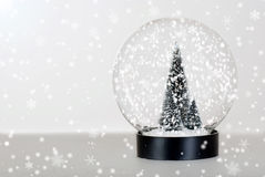 Christmas tree snow globe Stock Photo