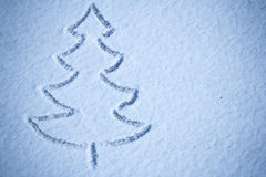 Christmas tree snow image Stock Photos