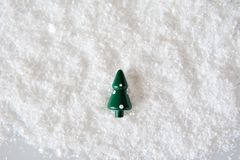 Christmas Tree on snow Stock Photography