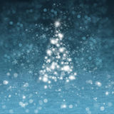 Christmas tree with snow Stock Image