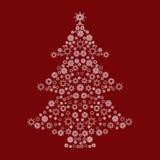 Christmas tree snow pattern Stock Image