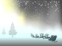Christmas tree snow silhouette background banner design. Royalty Free Stock Image