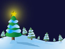 Christmas Tree Snow Vector royalty free illustration