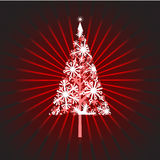 Christmas tree snow Vector Royalty Free Stock Image